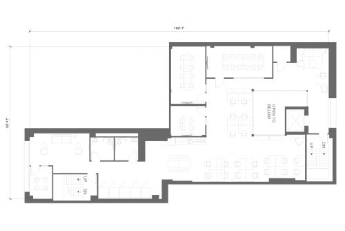 Floor-plan of 565 Commercial St., 2nd Floor, Suite 200