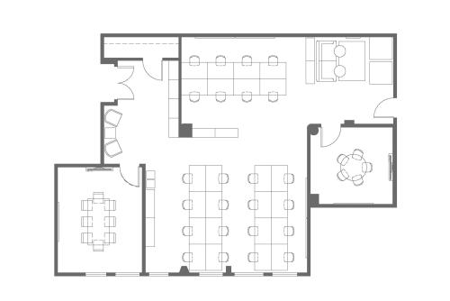 Floor-plan of 650 5th St., 4th Floor, Suite 402 & 410