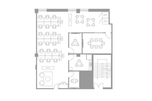 Floor-plan of 111 Peter St., 4th Floor, Suite 406A