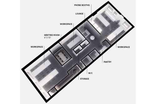 Floor-plan of 495 Adelaide St. West, 2nd Floor, Suite 200