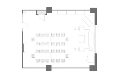 Floor-plan of 555 Richmond, 4th Floor, Suite 410