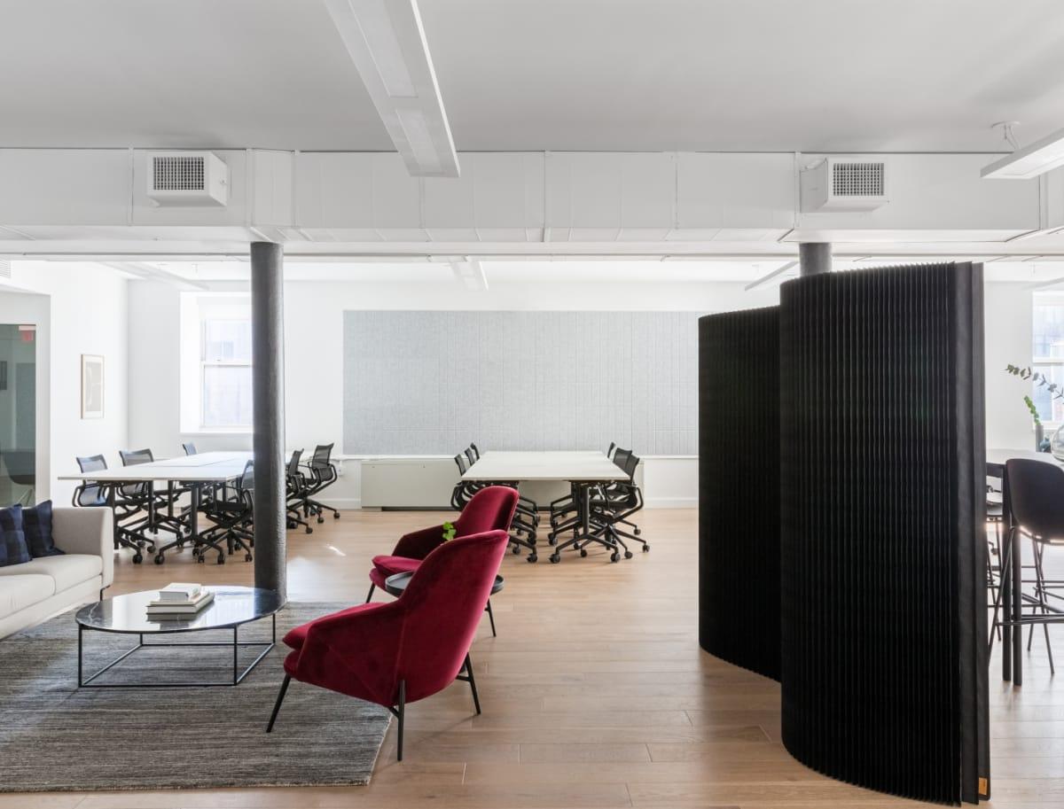 Un bureau Breather confortable et parfaitement aménagé.