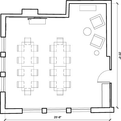 Floor plan for Breather office space 1 Charlotte Street, Fitzrovia, 2nd Floor