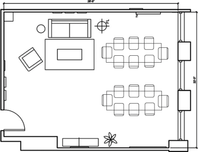 Floor plan for Breather office space 1 N. LaSalle, 24th Floor, Suite 2425, Room B