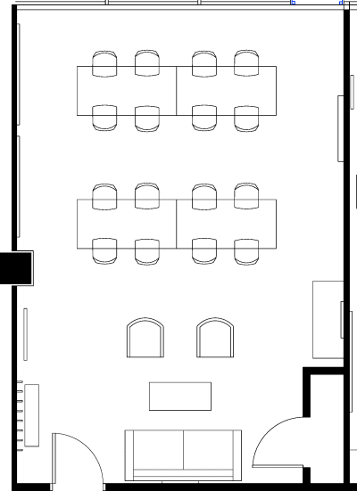 Floor plan for Breather office space 1 Thomas Circle NW, 10th Floor, Suite 1000, Room 1