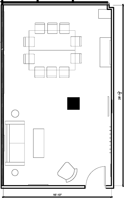 Floor plan for Breather office space 1 Thomas Circle NW, 10th Floor, Suite 1000, Room 3