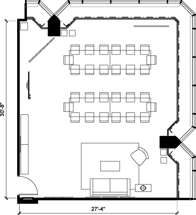 Floor plan for Breather office space 1 University Ave, 16th Floor, Suite 1602