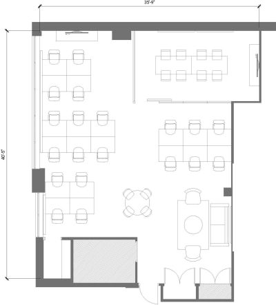 Floor plan for Breather office space 103 Richmond St. East, 2nd Floor, Suite 200