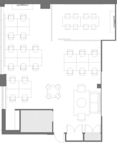 Floor plan for Breather office space 100 Lombard St. East, 103 Richmond St. East, 2nd Floor, Suite 200