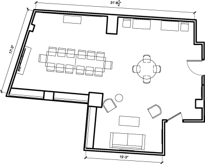 Floor plan for Breather office space 11 Beacon Street, 11th Floor, Suite 1110