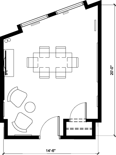 Floor plan for Breather office space 1123 Broadway, 3rd Floor, Suite 304