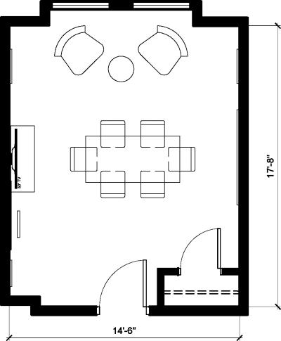 Floor plan for Breather office space 1123 Broadway, 3rd Floor, Suite 312
