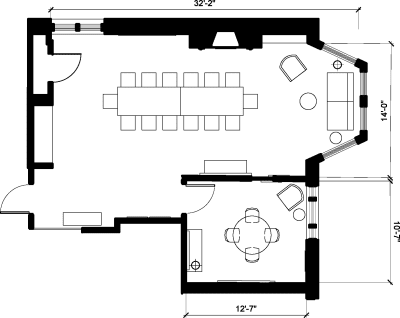 Floor plan for Breather office space 115 Newbury Street, 5th Floor, Room 1