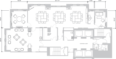 Floor plan for Breather office space 121 W. Wacker, 29th Floor, Suite 1