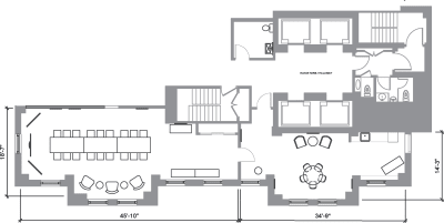 Floor plan for Breather office space 121 W. Wacker, 29th Floor, Suite 2