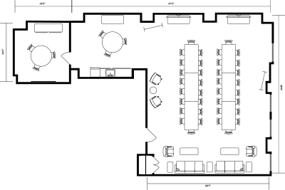 Floor plan for Breather office space 122 S. Michigan, 14th Floor, Suite 1405