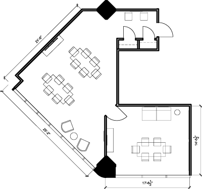 Floor plan for Breather office space 123 Front St. West, 9th Floor, Suite 906