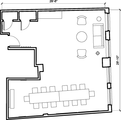 Floor plan for Breather office space 123 Curtain Road, Shoreditch, #1, 123 Curtain Road, Shoreditch, 1st Floor, Room 1