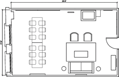 Floor plan for Breather office space 134 N. LaSalle, 17th Floor, Suite 1730