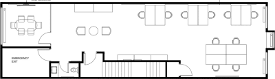 Floor plan for Breather office space 1357 Avenue Greene, 3rd Floor, Suite 300