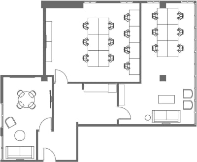 Floor plan for Breather office space 1411 5th St., 3rd Floor, Suite 306
