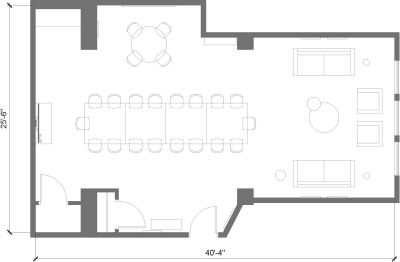 Floor plan for Breather office space 150 West 25th Street, 6th Floor, Suite 602