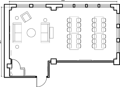 Floor plan for Breather office space 150 West 28th Street, 4th Floor, Suite 404, Room 1