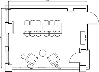 Floor plan for Breather office space 150 West 28th Street, 4th Floor, Suite 404, Room 2