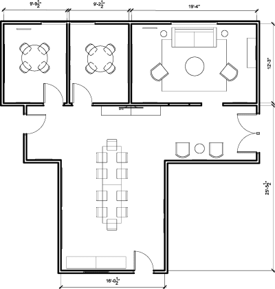 Floor plan for Breather office space 1639 11th St., 2nd Floor, Suite 210