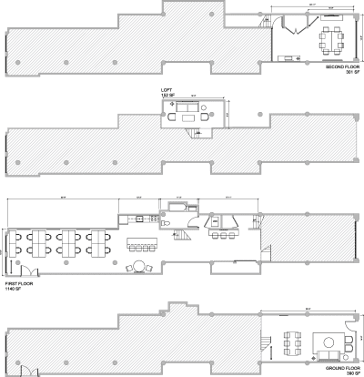 Floor plan for Breather office space 164 Townsend St., Suite 2