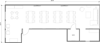 Floor plan for Breather office space 171 Newbury Street, 3rd Floor