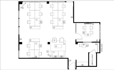 Floor plan for Breather office space 179 South Street, 6th Floor, Room 2