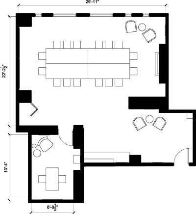 Floor plan for Breather office space 180 Canal Street, 3rd Floor
