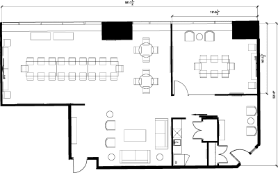 Floor plan for Breather office space 2 Bloor St. East, 3rd Floor, Suite 310