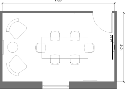 Floor plan for Breather office space 211 E 43rd Street, 17th Floor, Suite 1703, Room 2