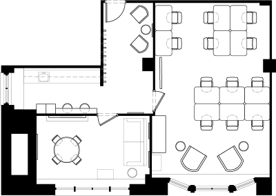 Floor plan for Breather office space 215 Park Avenue South, 20th Floor, Suite 2010