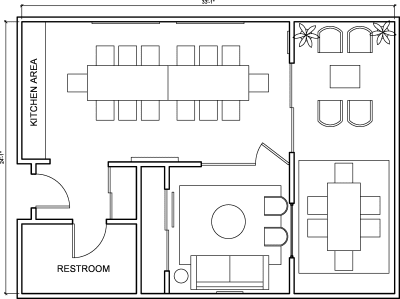 Floor plan for Breather office space 2216 Main St., 2nd Floor, Suite 203