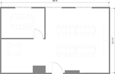 Floor plan for Breather office space 225 Bush St., 3rd Floor, Suite 357