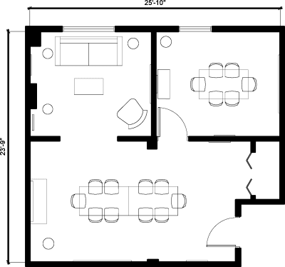 Floor plan for Breather office space 251 Post St., 3rd Floor, Suite 300