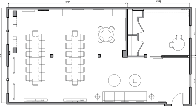 Floor plan for Breather office space 251 Post St., 6th Floor, Suite 620