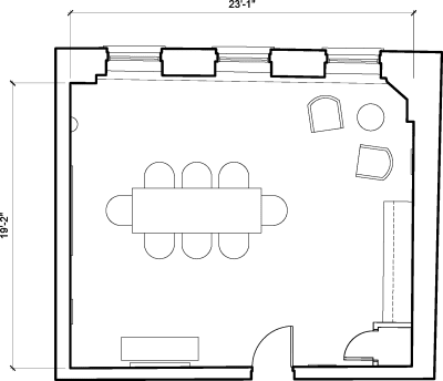 Floor plan for Breather office space 25 Dover Street, Mayfair, #-1, 25 Dover Street, Mayfair, 4th Floor, Room 1