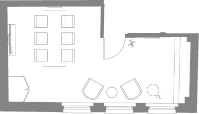 Floor plan for Breather office space 25 Dover Street, Mayfair, #-2, 25 Dover Street, Mayfair, 4th Floor, Room 2