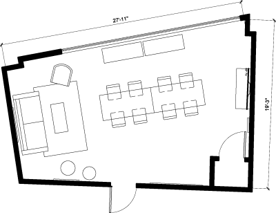 Floor plan for Breather office space 262 Washington Street, 4th Floor, Suite 402, Room 2