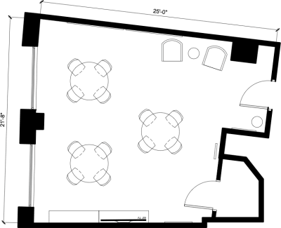 Floor plan for Breather office space 262 Washington Street, 8th Floor, Suite 801