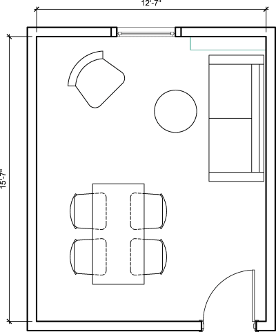 Floor plan for Breather office space 276 Fifth Avenue, 7th Floor, Suite 704, Room G