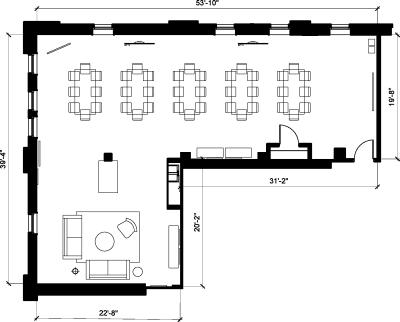 Floor plan for Breather office space 313 Congress Street, 4th Floor, Suite 400, Room 3