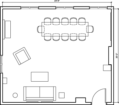 Floor plan for Breather office space 347 Fifth Avenue, 11th Floor, Suite 1103