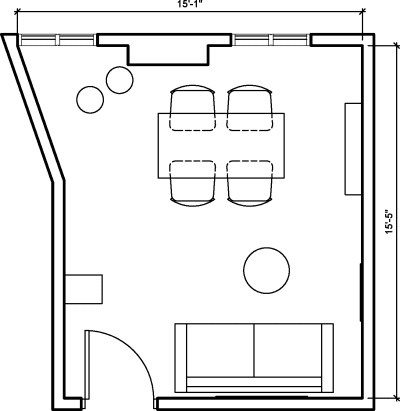 Floor plan for Breather office space 347 Fifth Avenue, 7th Floor, Suite 707