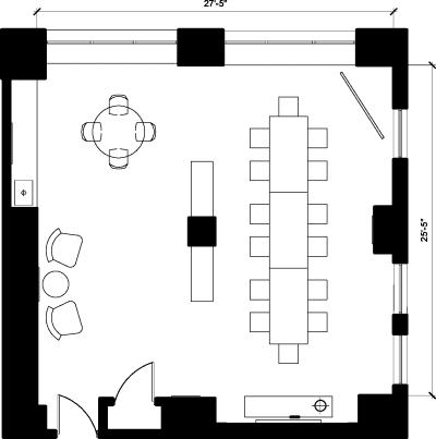 Floor plan for Breather office space 369 Lexington Avenue, 22nd Floor, Suite 1