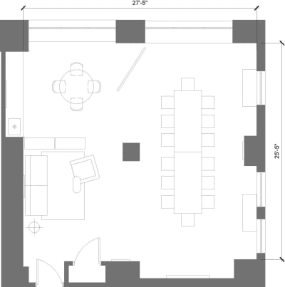 Floor plan for Breather office space 369 Lexington Avenue, 22nd Floor, Suite 1